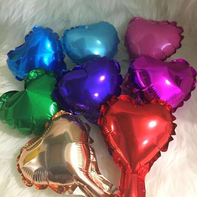 5-inch heart foil balloons REPRICED!!!