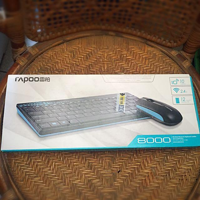 雷柏8000無線鍵盤滑鼠