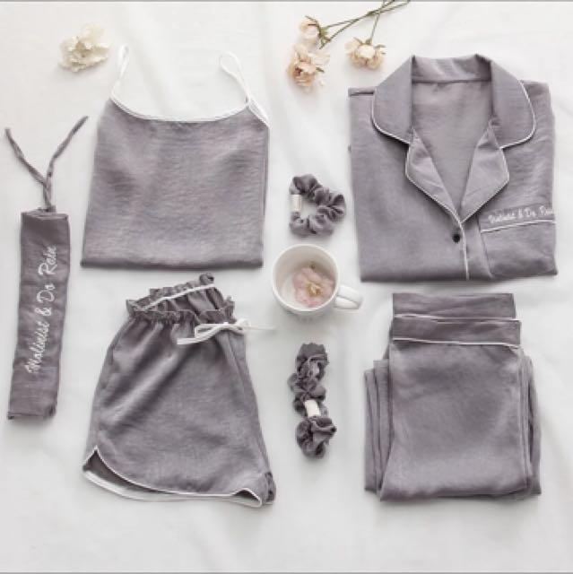 絲綢套裝睡衣