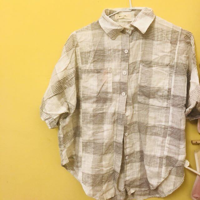 棉麻文青襯衫
