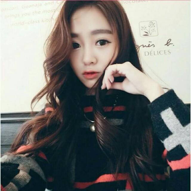 韓系中分長捲髮