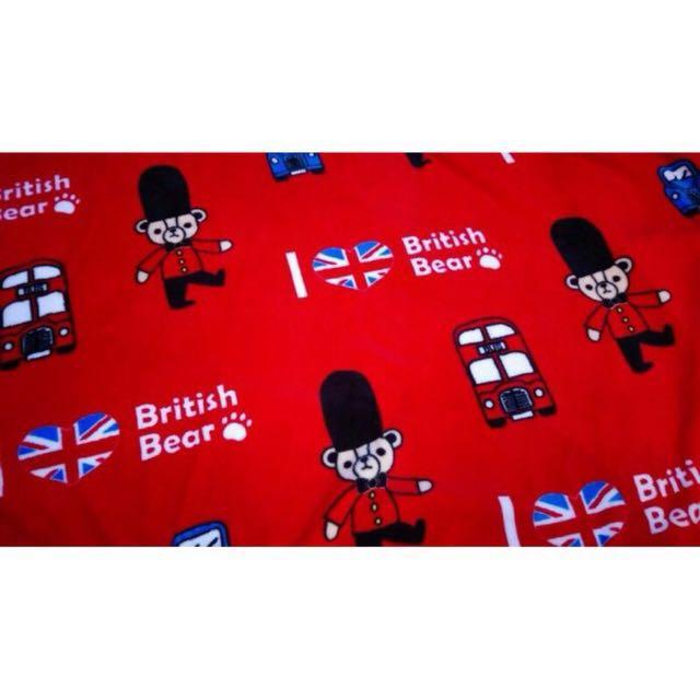 英國熊珊瑚絨毯