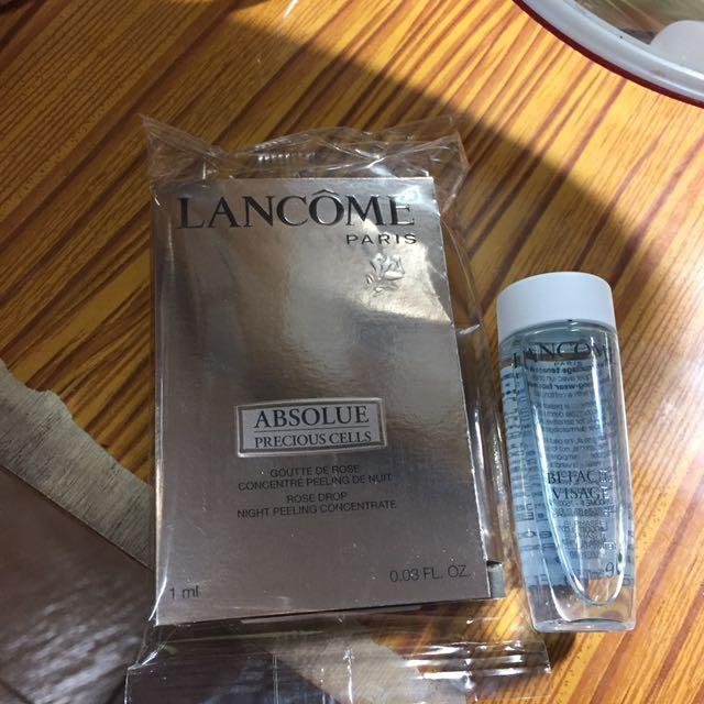 蘭蔻玫瑰精雕活萃+卸妝潔膚水