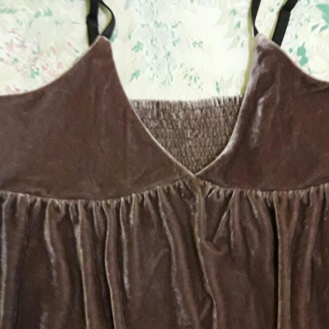 🍎可愛棉絨吊帶裙