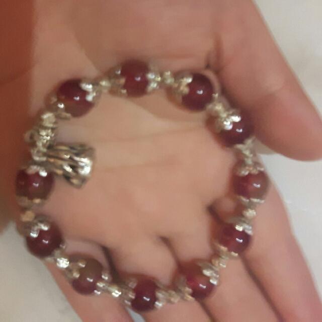 西瓜玉石手珠 設計款