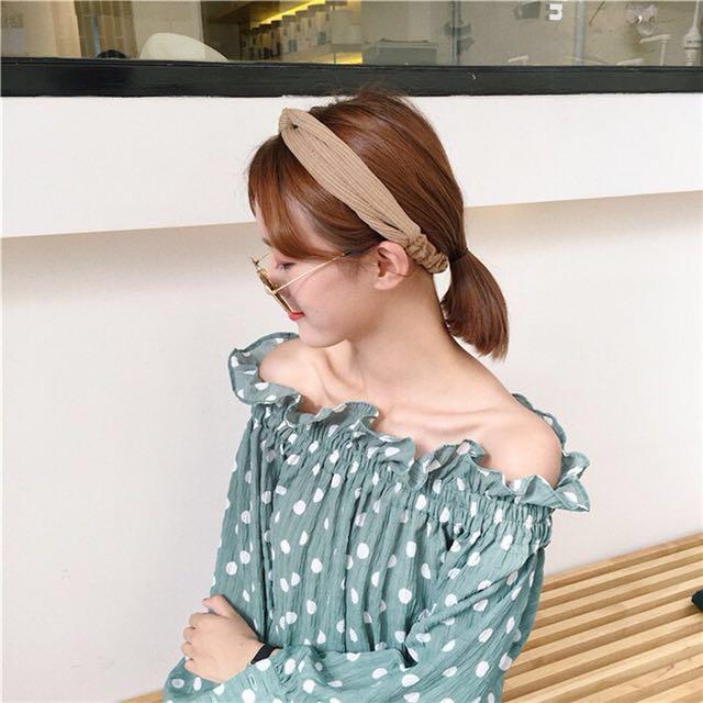 全新咖啡色髮帶 素面鬆緊透氣復古髮帶 #超取再七折