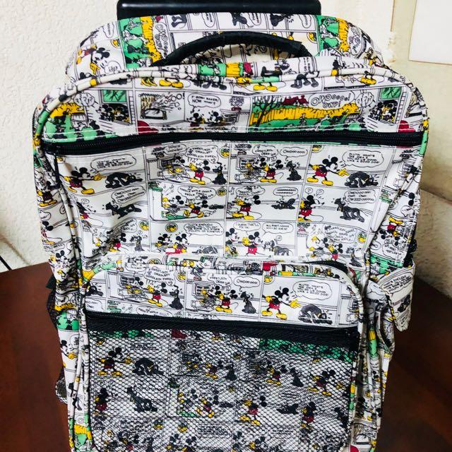 迪士尼 米奇 行李箱 背包