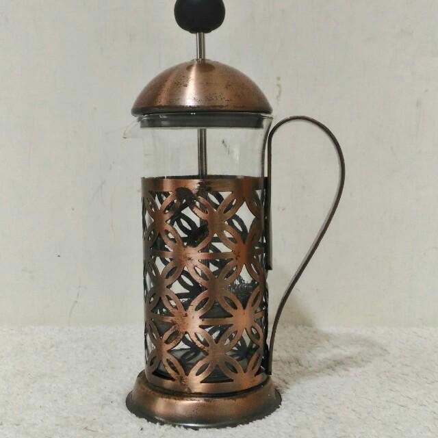 二手 約六七成新~ 英式 歐式 泡茶 紅茶 外鐵製內玻璃茶具組