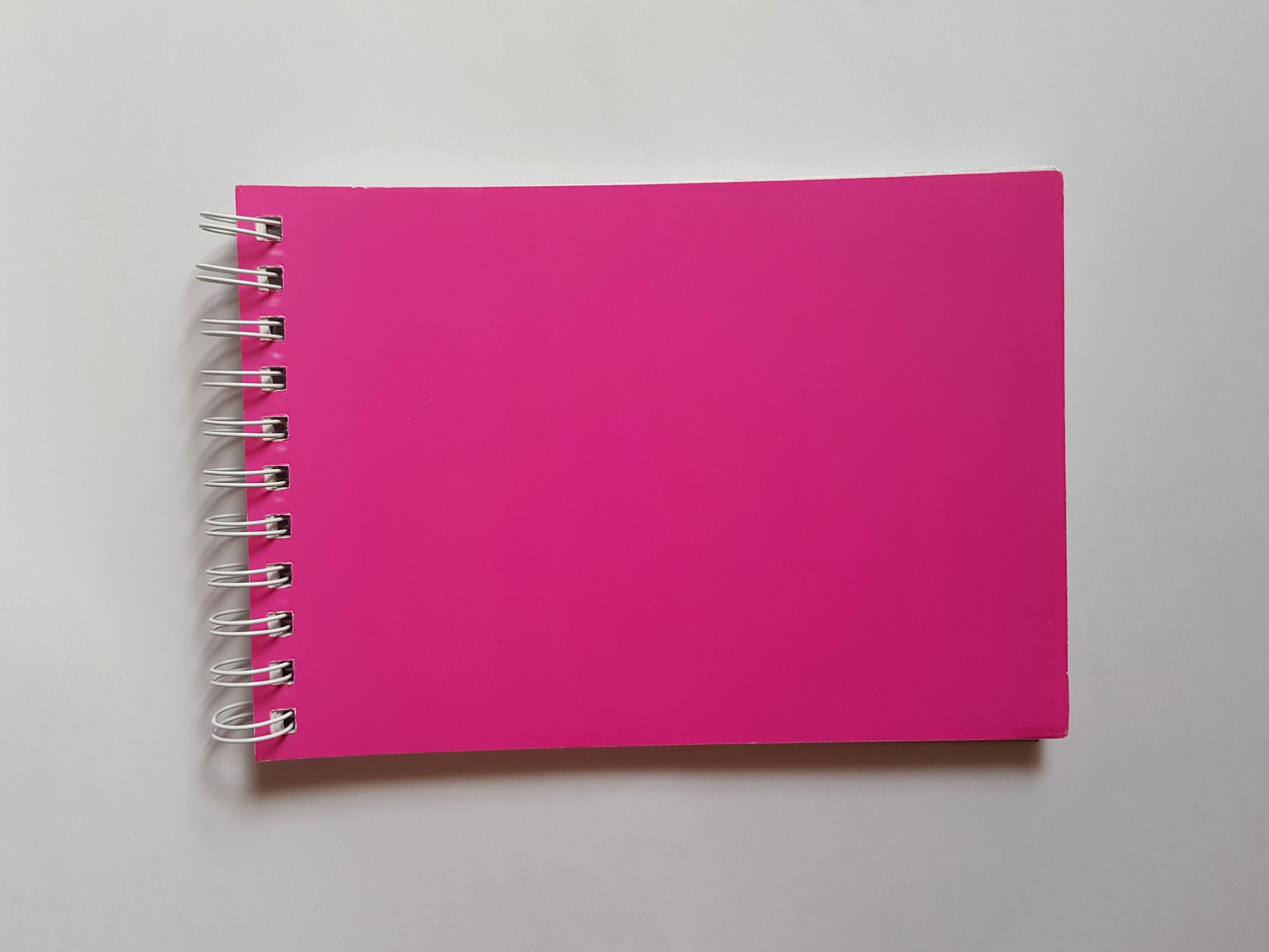 A5 Pink Sketchpad/Visual Dairy