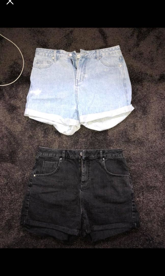 A brand / ASOS high waisted denim shorts