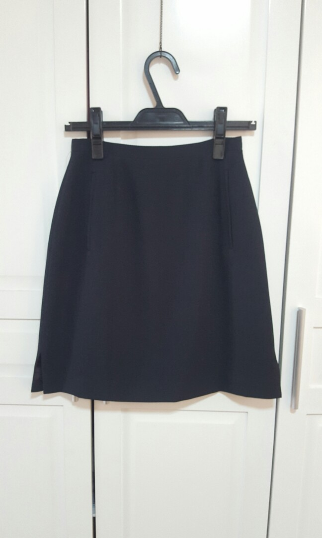 A-Line Navy Blue Skirt (Office/Casual)