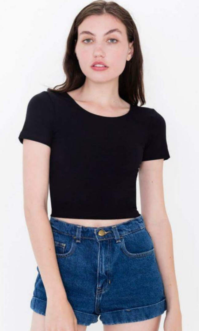 American apparel crop top medium