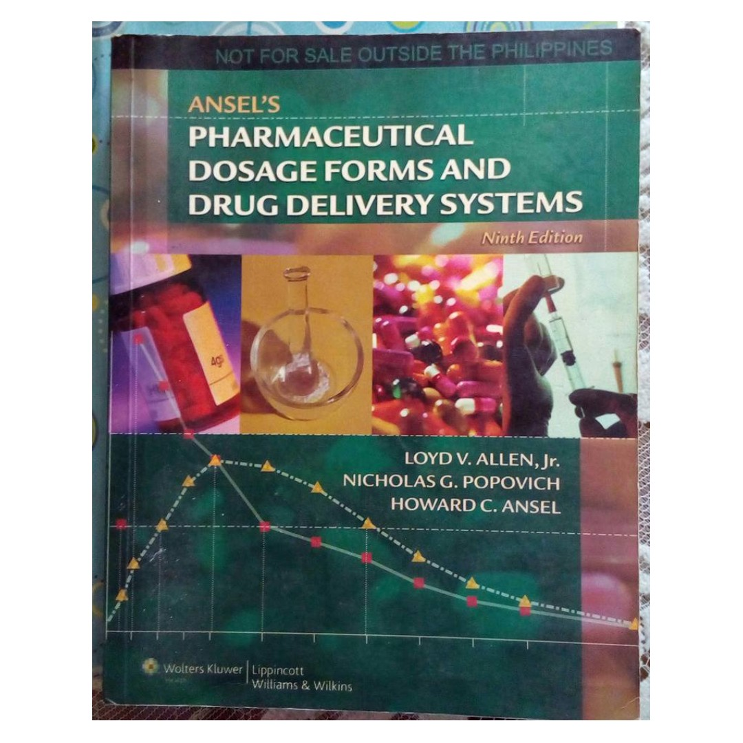 Ansel's Pharmaceutical Dosage Forms And drug Delivery Systems 9th edition