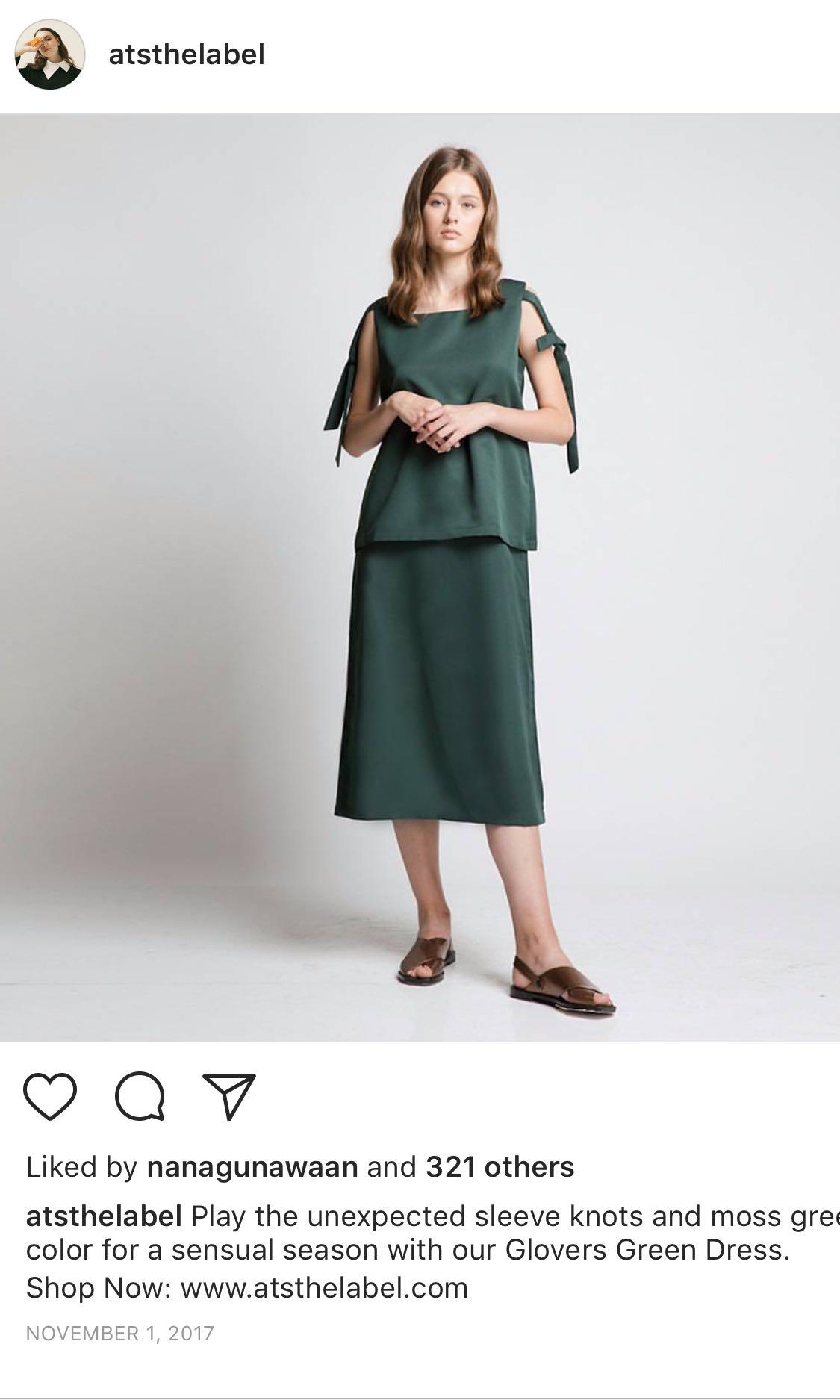 atsthelabel green dress