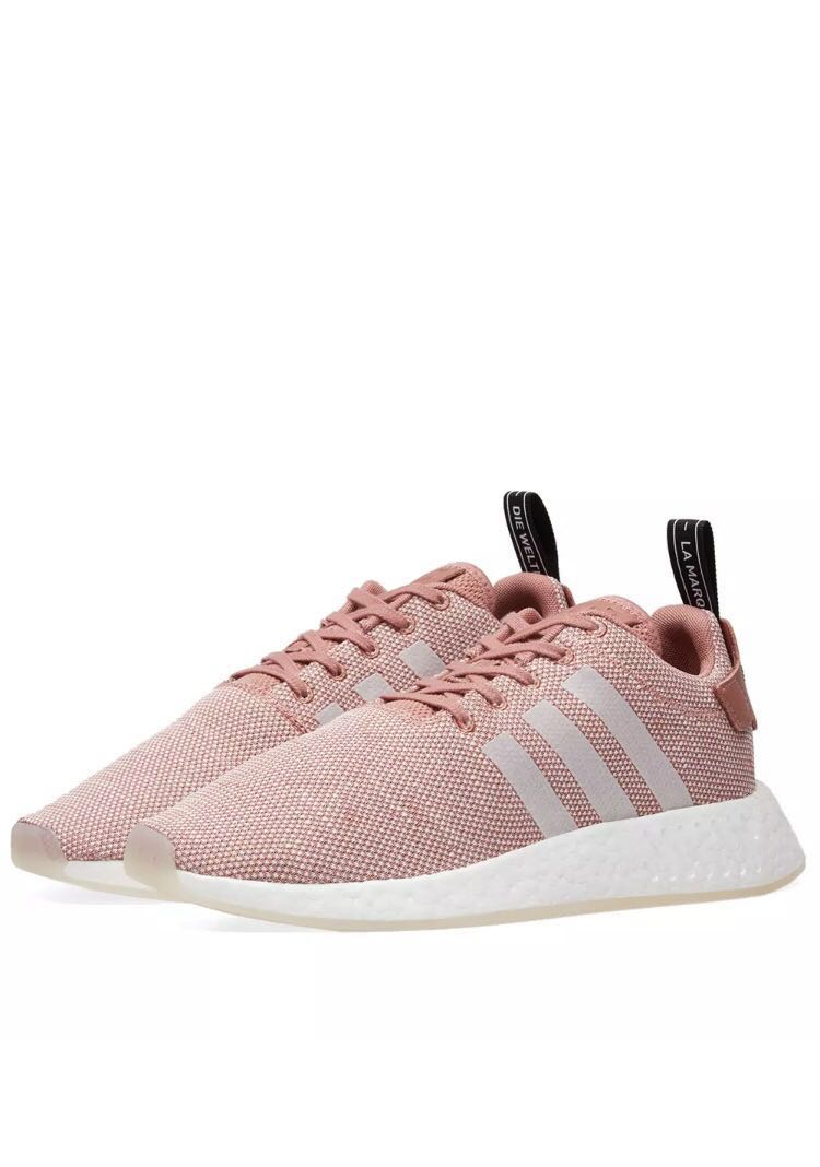 huge discount ab543 d8748 Authentic Adidas NMD R2 Women's Ash Pink