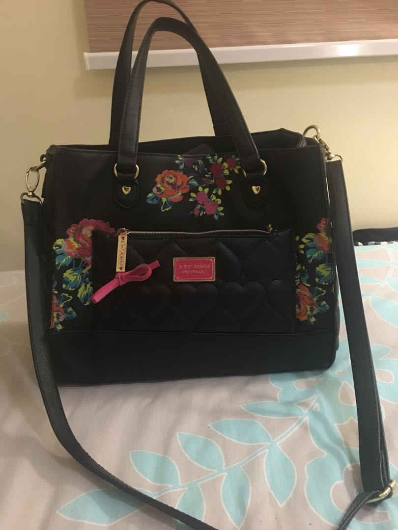 Authentic Betsey Johnson Floral Bag