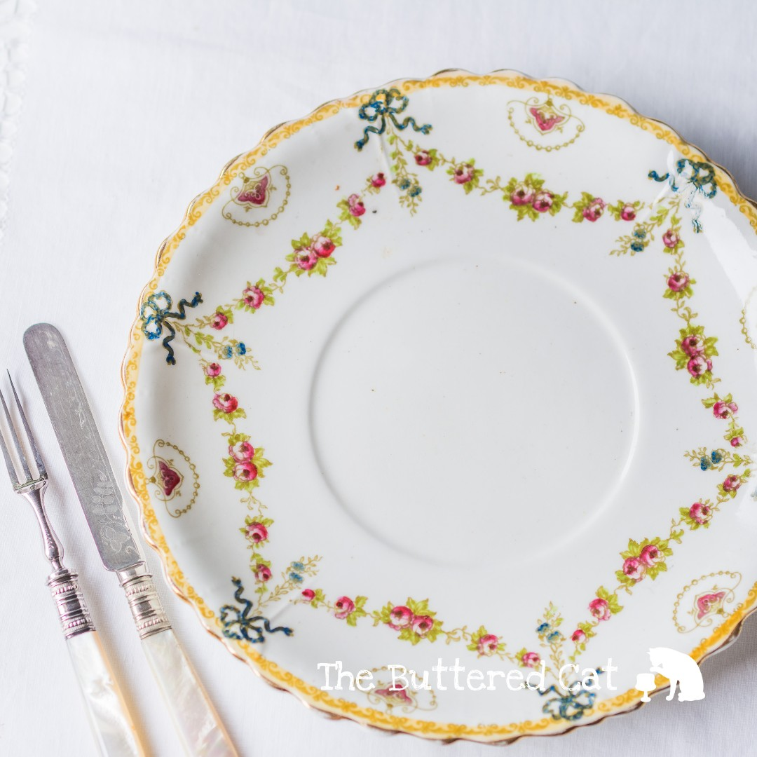 RESERVED Beautiful antique English bone china cake plate hand-decorated blue ribbon bows rose swags and garlands Vintage \u0026 Collectibles St&s \u0026 Prints ...  sc 1 st  Carousell & RESERVED Beautiful antique English bone china cake plate hand ...
