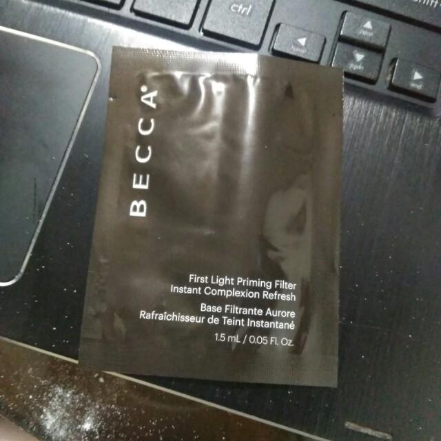 Becca First Light Priming Filter Sample Sampler