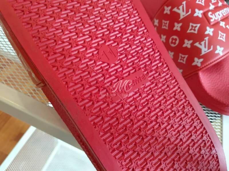 5b5c49ed07a3 (Best Seller) Louis Vuitton x Supreme Slide Sandal UNISEX
