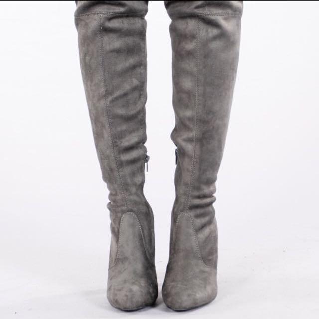 BNIB Dark Grey Thigh High Boots