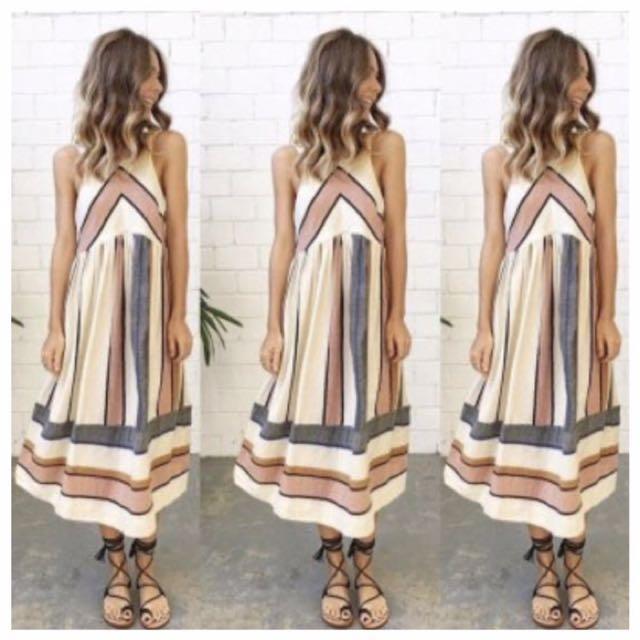 BNIB stripe dress from Wildbeautyy