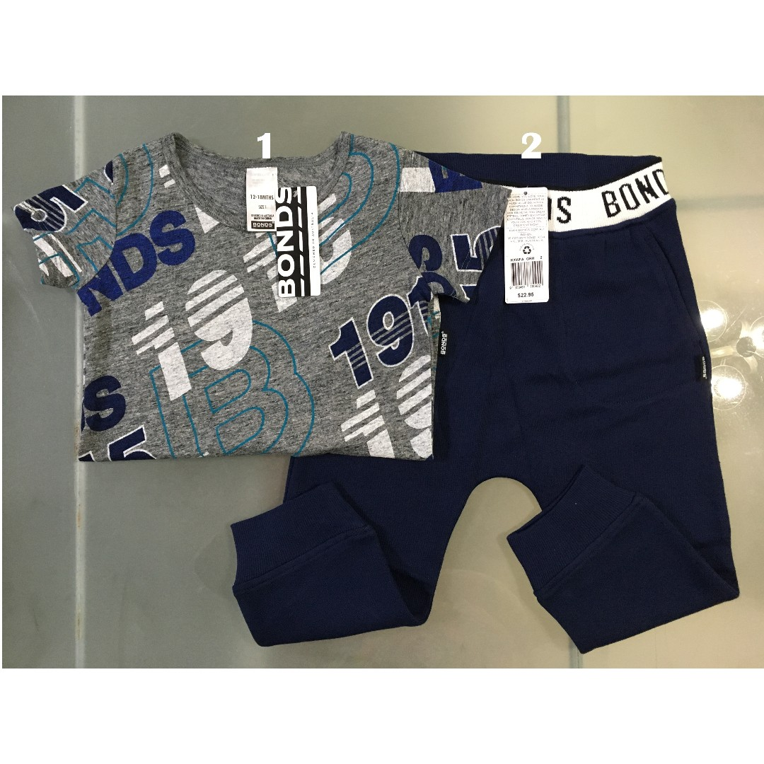 Bonds Tee & Trackie Set for 18-24m