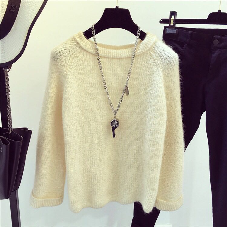 BRAND NEW Cream Sweater Knit Top