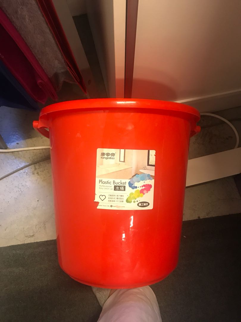 Brand new red bucket pail large