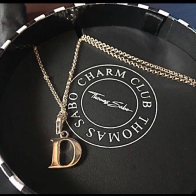 "Brand New Thomas Sabo Necklace with ""D"" Pendant"