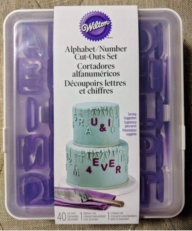 Brand New Wilton 40 Piece Alphabet & Numbers Fondant Cut-Outs Set
