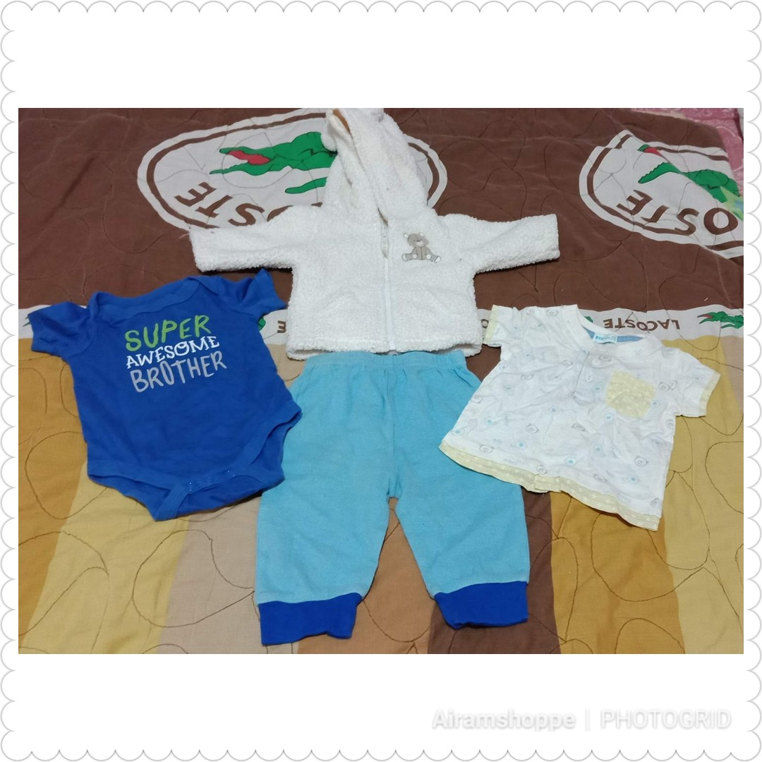 Bundle A for Newborn 0 - 3 & 6-9 months (boys)