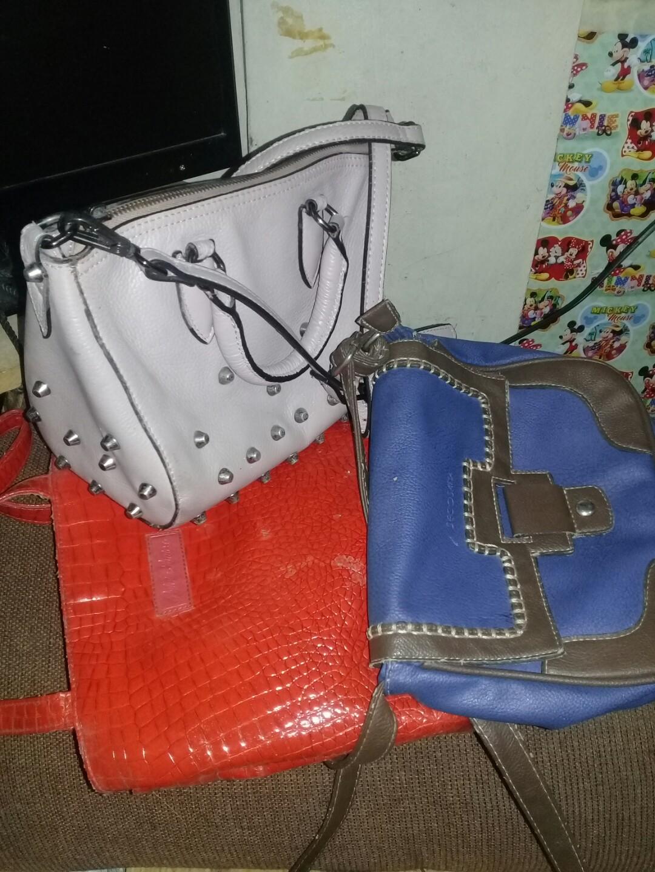 Bundle bag. SECOSANA SLING BAG, REDEEM BAGPACK, STUDDED BAG