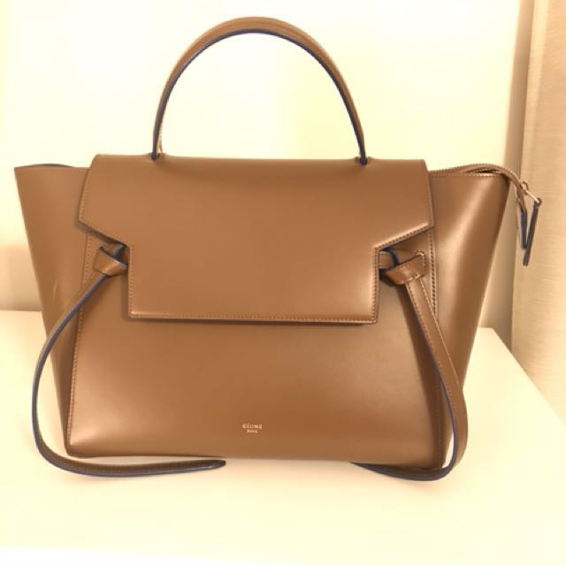 Celine Belt Bag (Brown with blue lining)