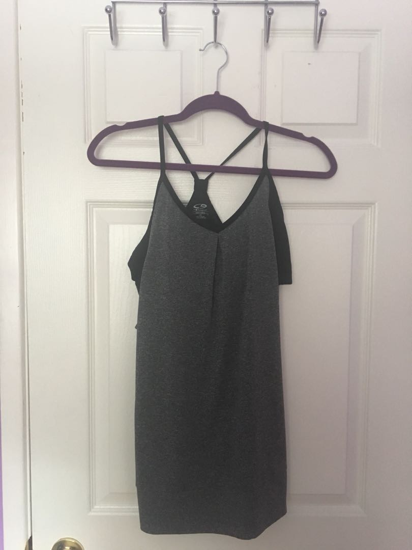 Champion tank top with attached sports bra