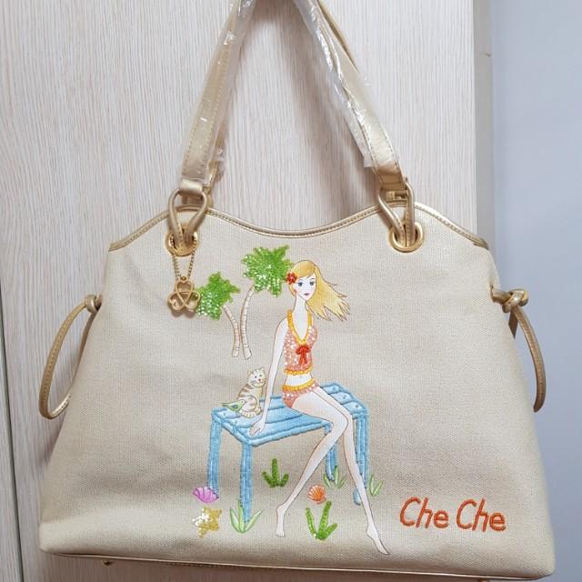 3597ba33962b Che Che New York Tote bag - Gold