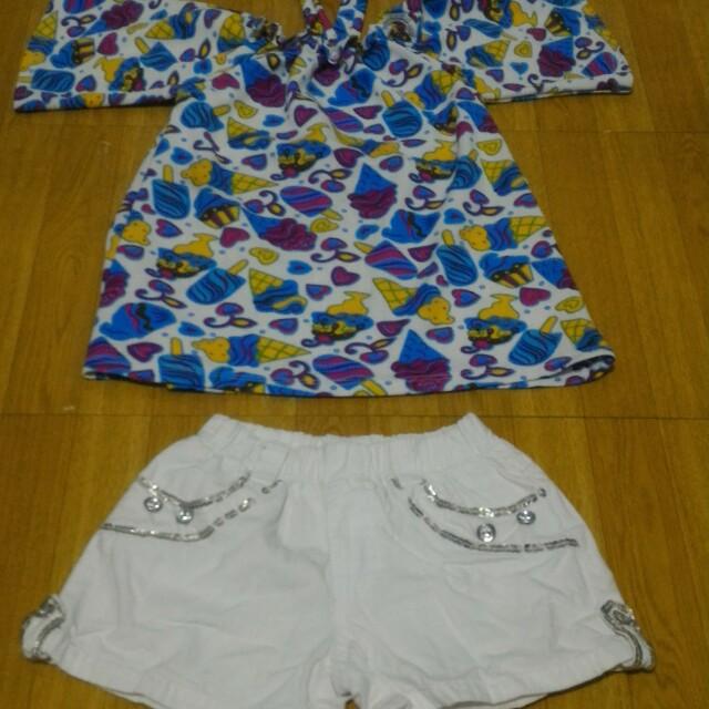 Choker top and shorts set