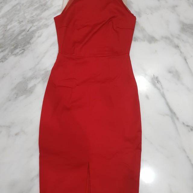Ciel Red Apron Dress