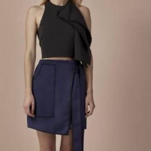 C/meo Collective 'All of the lights' wrap skirt