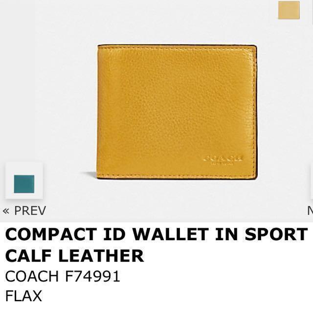 Coach 皮夾 黃色