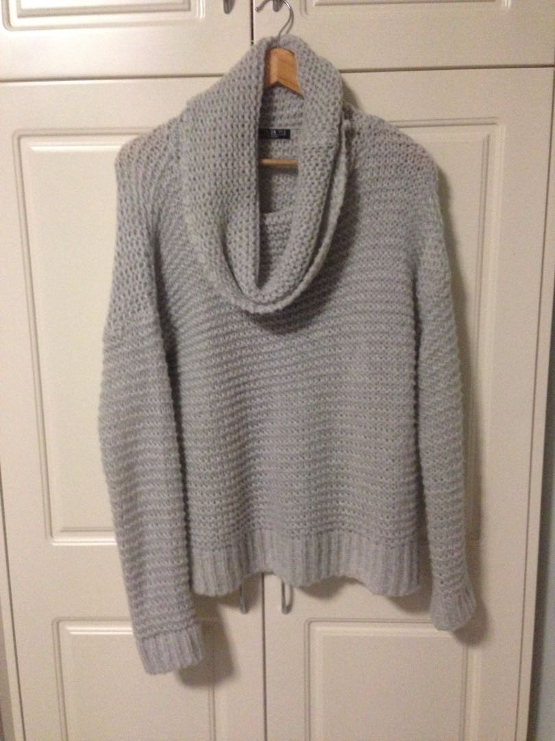 Cotton On Gray Cowl Neck Knitted Jumper