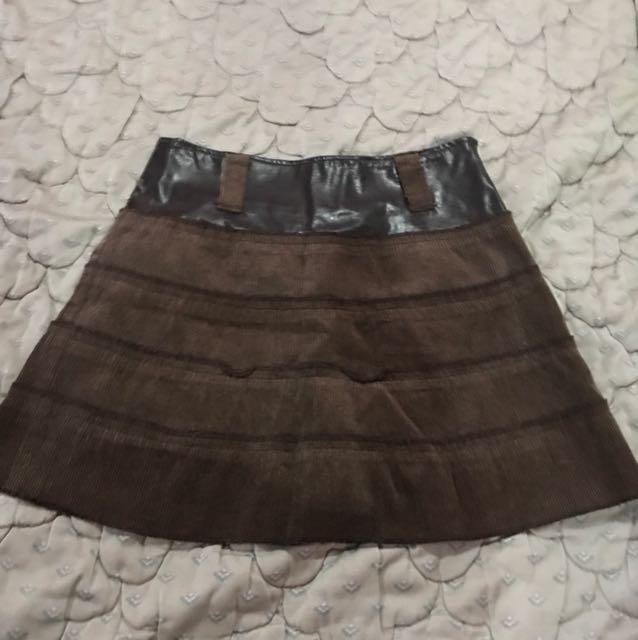 Courduroy Brown Skirt