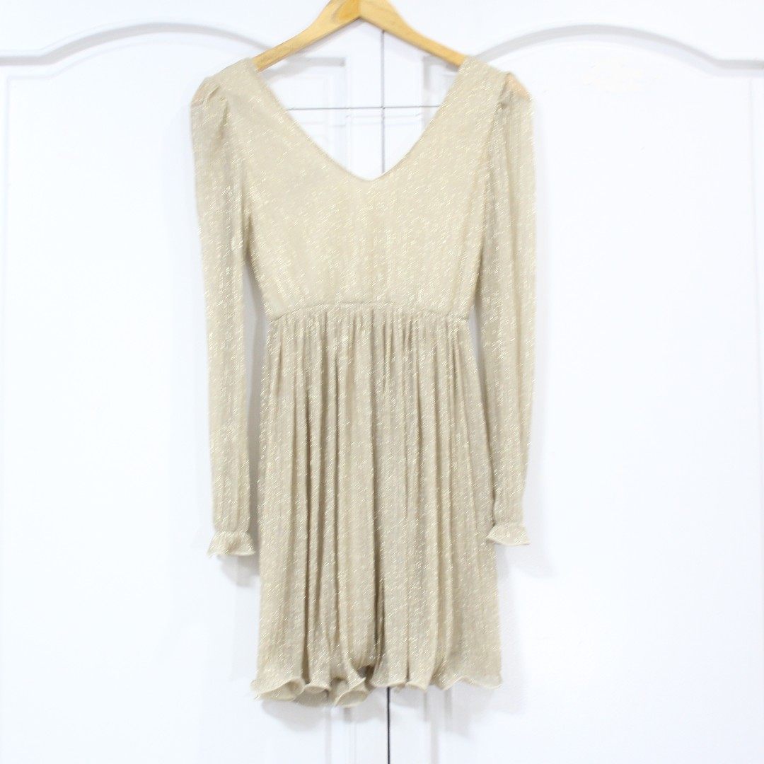 Cream Shimmery Dress