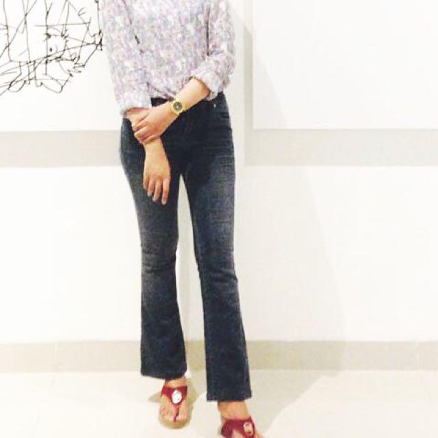 Cutbray pants basic