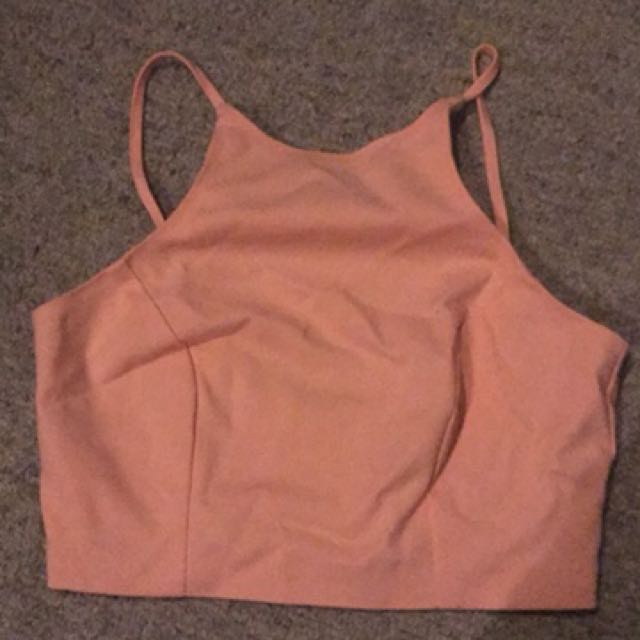 Cute light pink top size s