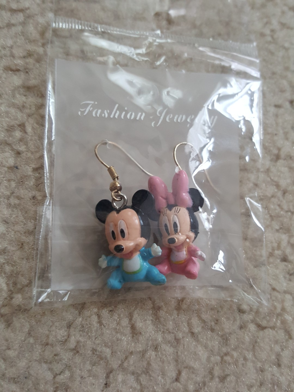 Cute Mickey and Minnie earrings