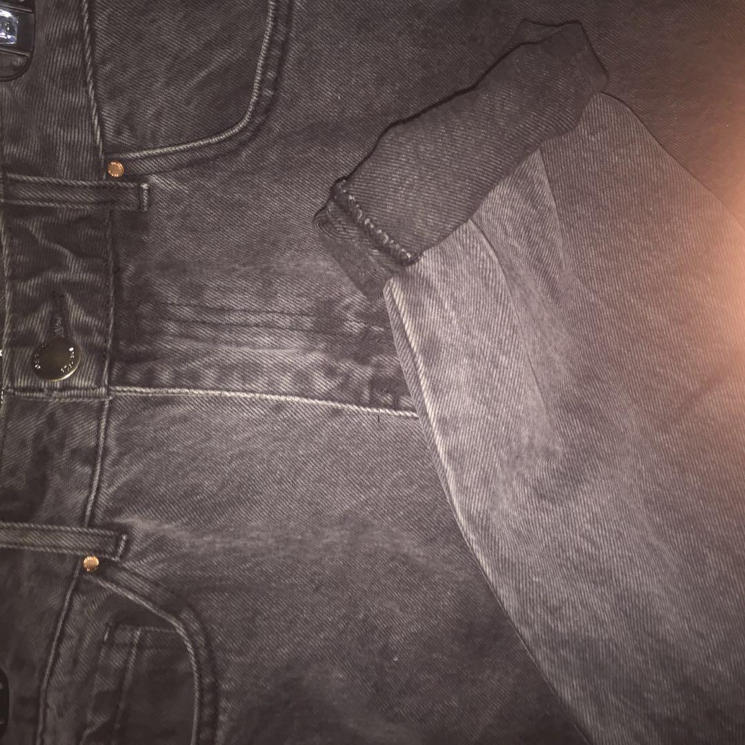 Denim black mom jeans