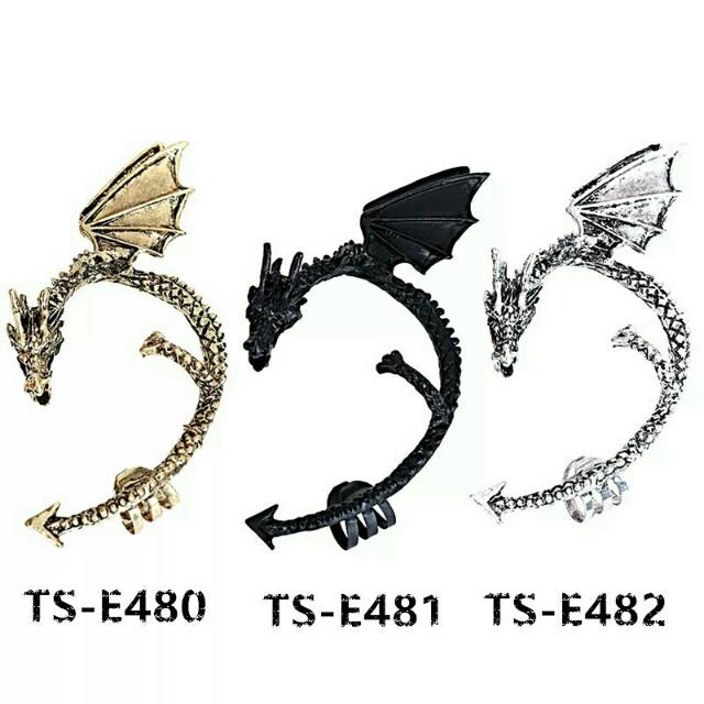 Dragon Clip Earrings