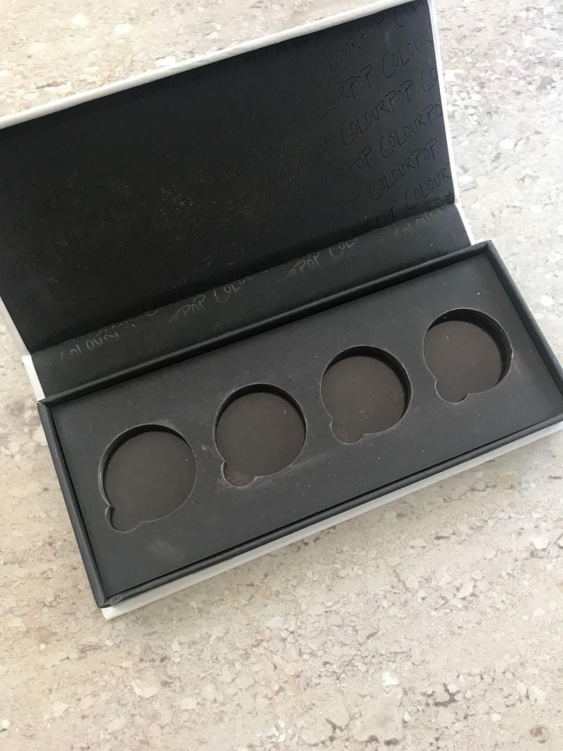 Empty colourpop palette