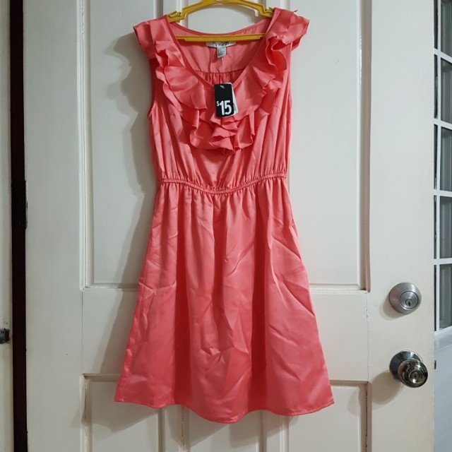 Forever 21 coral/pink dress