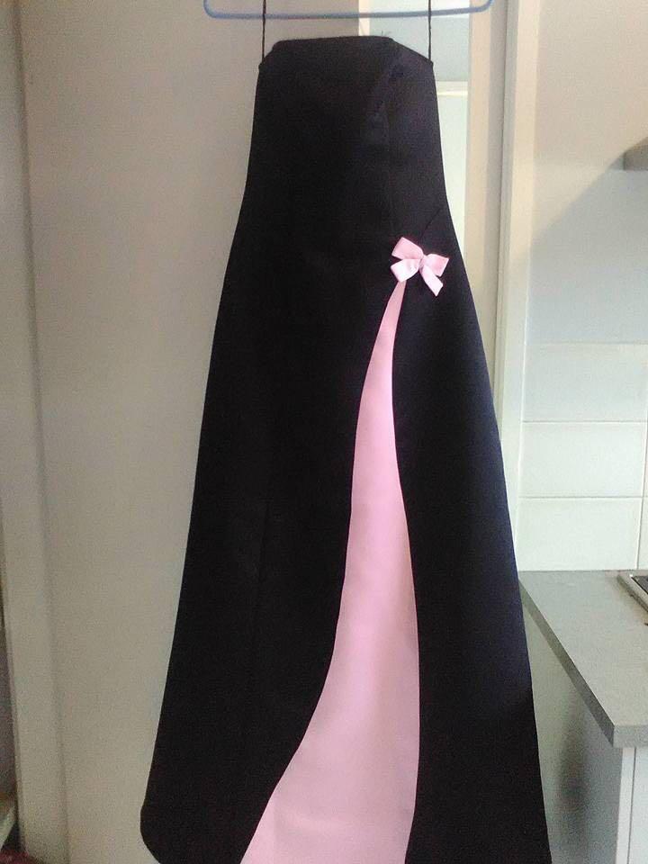 Formal long strapless dress